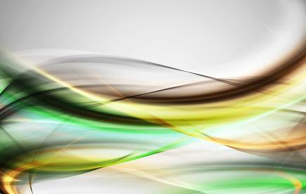 Grunge green and yellow fractal swirl