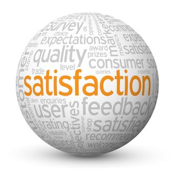 """SATISFACTION"" Tag Cloud Globe (quality customer service user)"